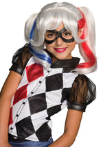 Iconic pigtails Harley Quinn wig for girls