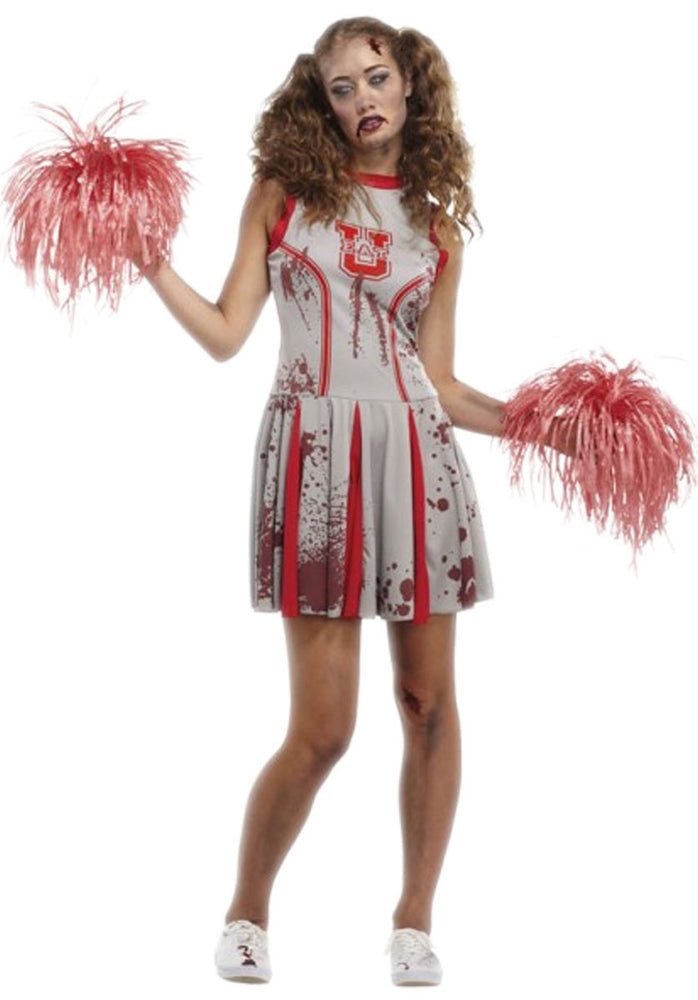 Undead Cheerleader Zombie Costume