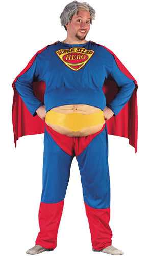 Fat Super Alpha Male Costume, Funny Superman Fancy Dress