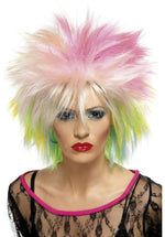 Cute 80s Multi Coloured Wig, Retro Wigs