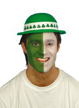 Bowler , Green PVC, Shamrock Smiffys fancy dress