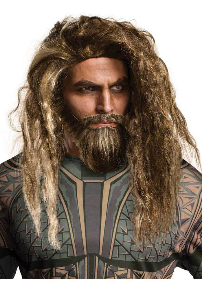 Aquaman Wig & Beard Set