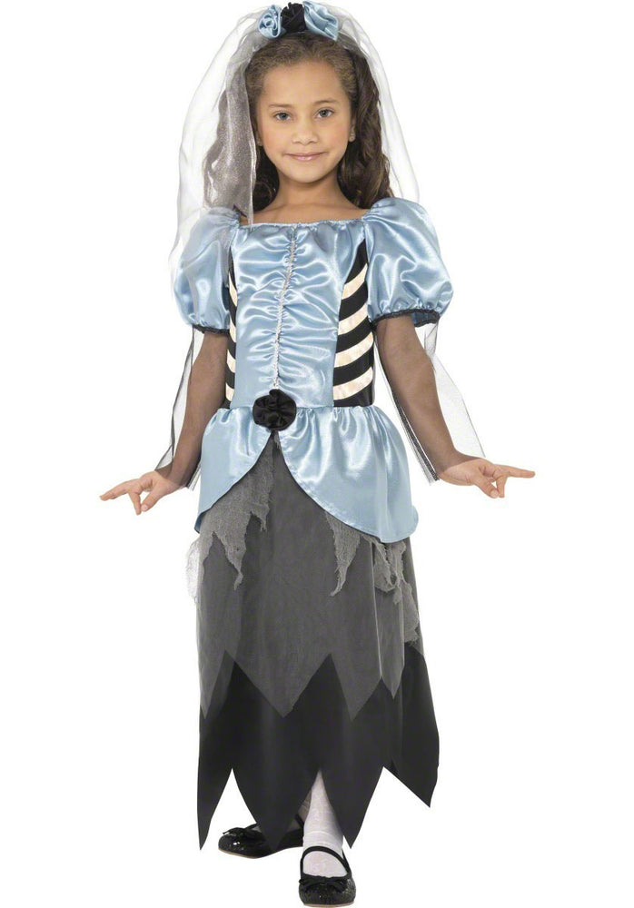 Kids Gothic Bride Costume, Scary Girls Fancy Dress