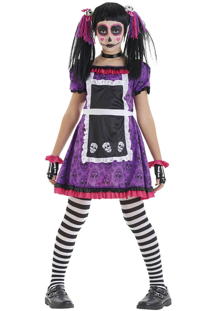 Child's Day of the Dead Dia De Los Mueros Costume