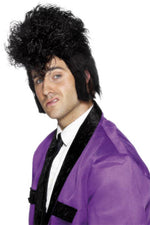 Rocker Wig Black Spiked Teddy Boy Smiffys fancy dress