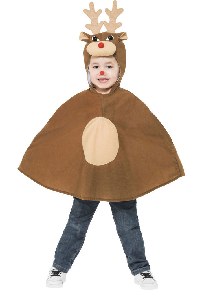 Kids Reindeer Poncho Costume, Reindeer Fancy Dress