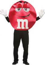 Adult M & M Red Costume, Deluxe Quality Fancy Dress