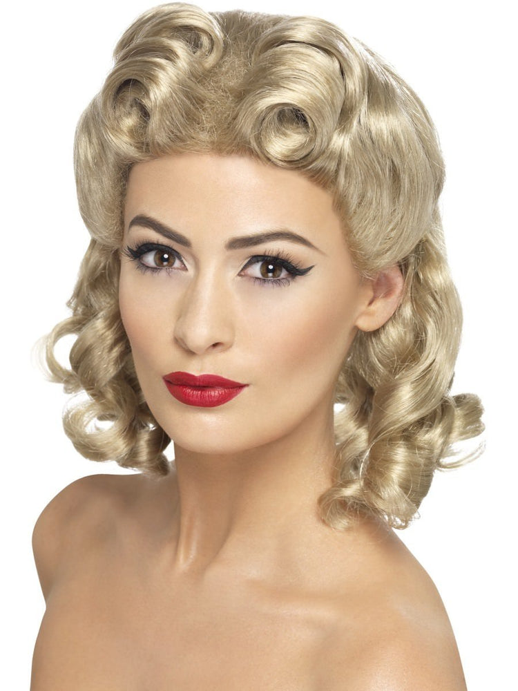 1940s Sweetheart Wig, Blonde