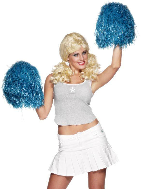 Pom Pom, Extra Large Blue Smiffys fancy dress
