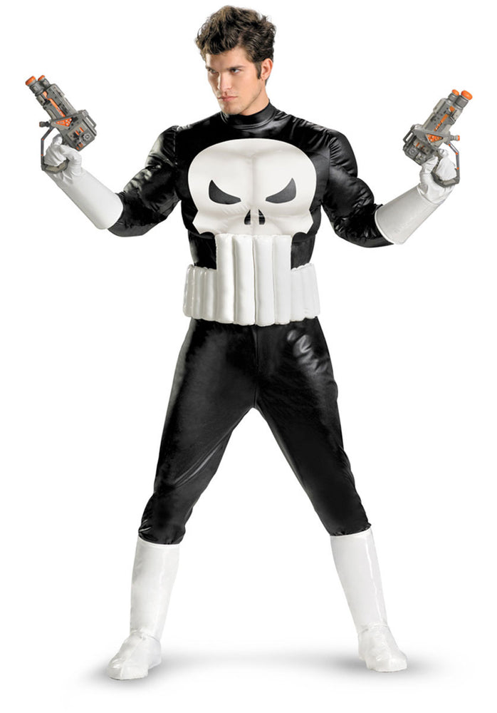 Marvel Punisher Costume with Muscle Chest & Arms