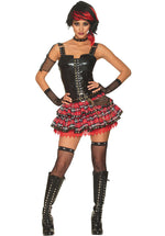 American Punk Girl Fancy Dress Costume