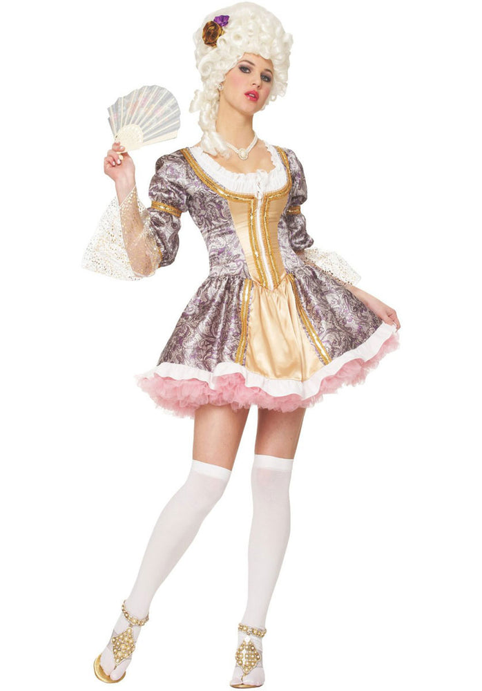 French Queen Adult Costume