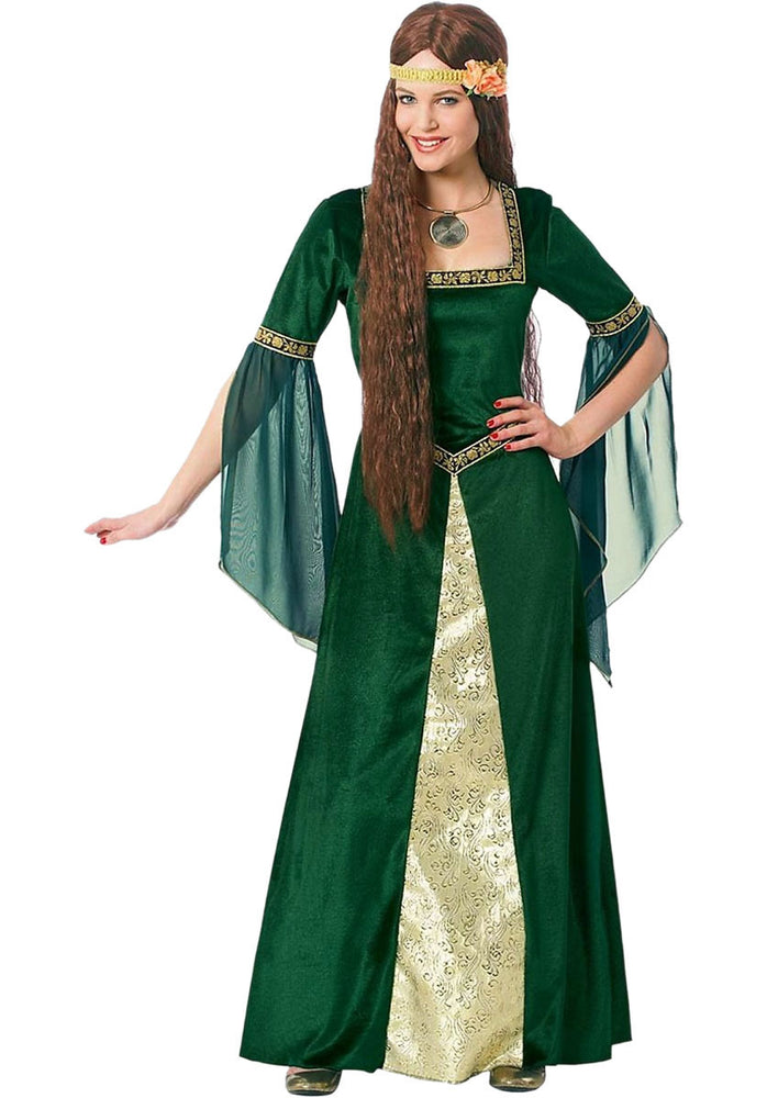 Adult Renaissance Lady Costume, Green Dress