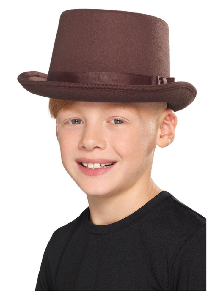 Kids Top Hat, Brown