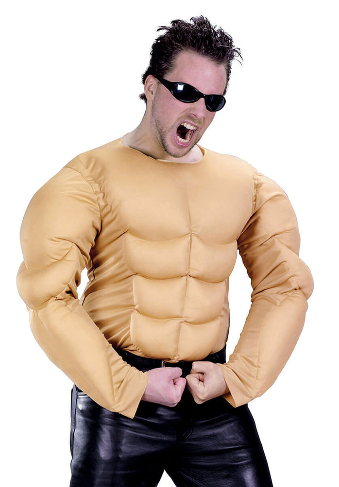 Muscleman Shirt Costume, Muscles Fancy Dress