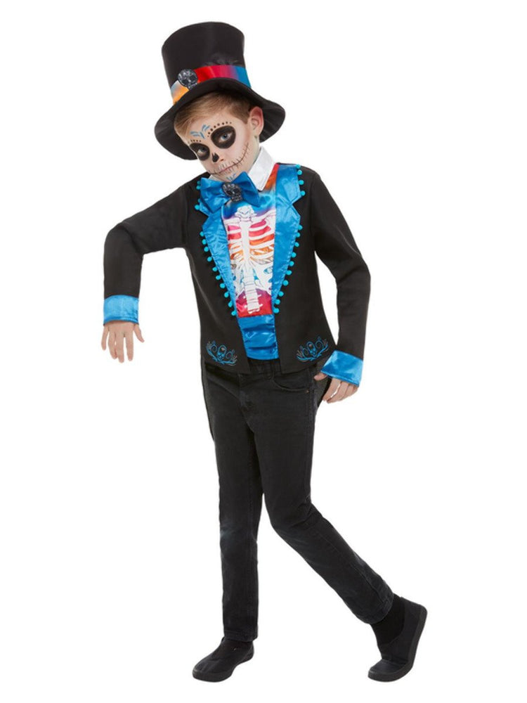 Smiffys Neon Day of The Dead Boy Costume - 50792