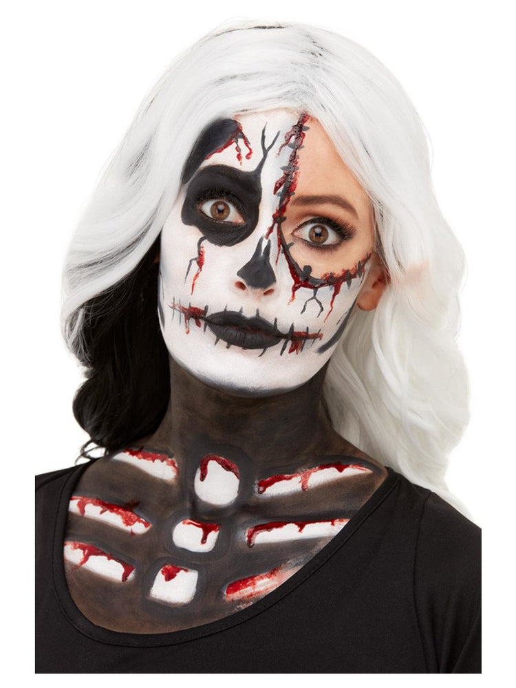 Smiffys Smiffys Make-Up FX, Skeleton Kit, Aqua - 50915