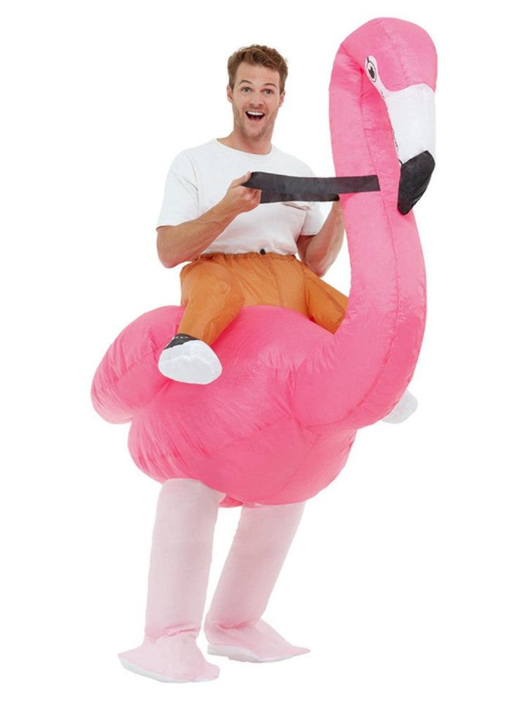 Inflatable Ride Em Flamingo Costume