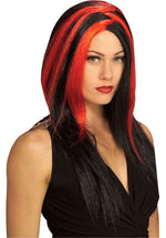Miss Sinister Red/Black Wig