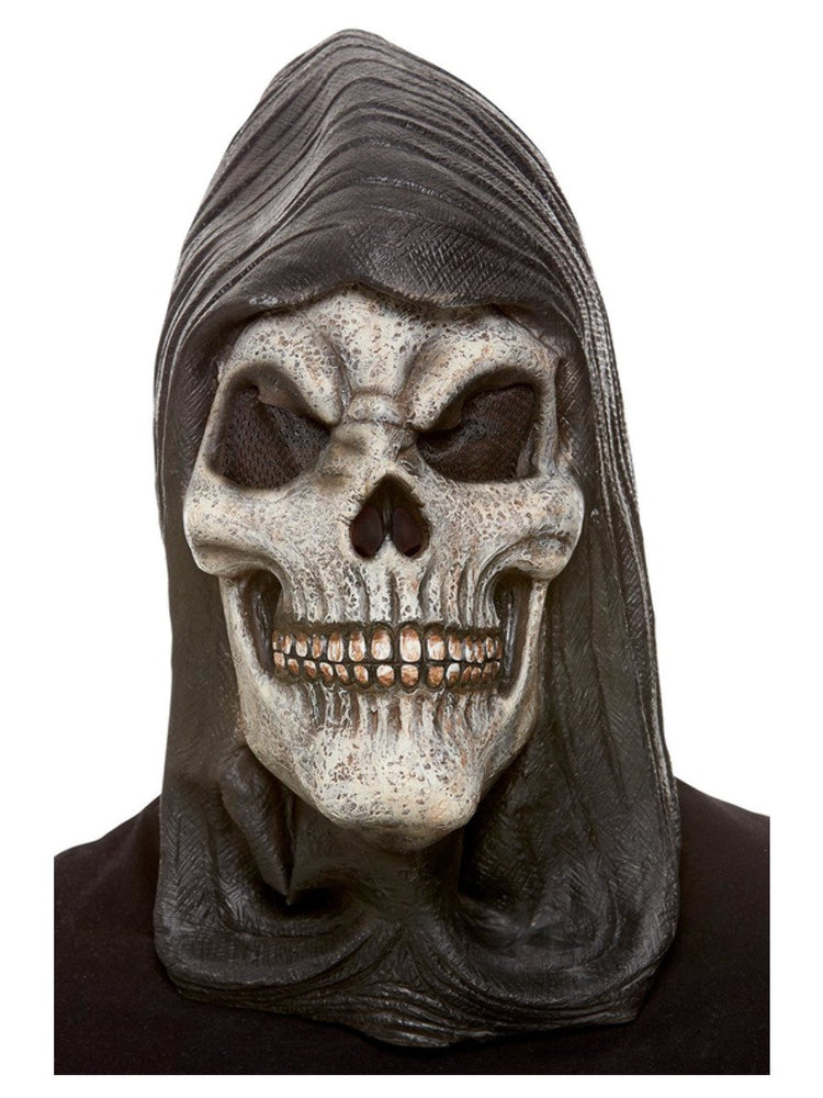 Smiffys Hooded Skeleton Latex Mask - 52033