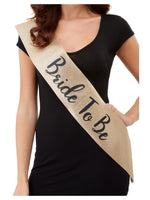 Bride To Be Sash Gold and Black