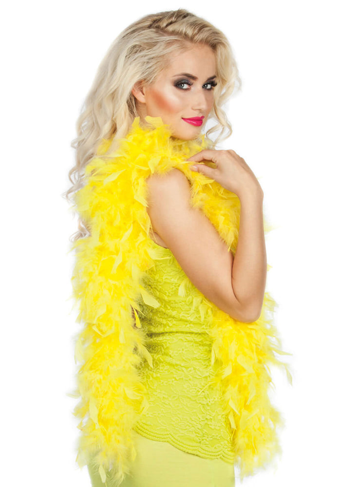 Feather Boa 50g Yellow