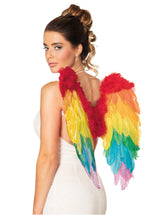 Rainbow Angel Wings - 50x50cm