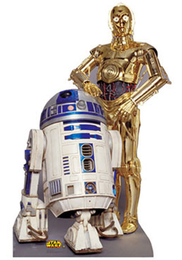 Star Wars R2D2 and C3P0 Stand Up Cardboard Cutout.