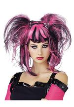 Bad Fairy Wig, Black and Pink