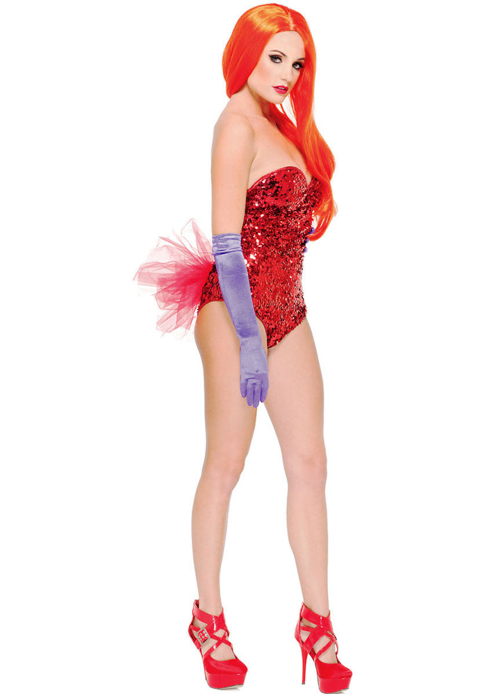 Roger Who? Costume, Jessica Rabbit Body Suit Fancy Dress