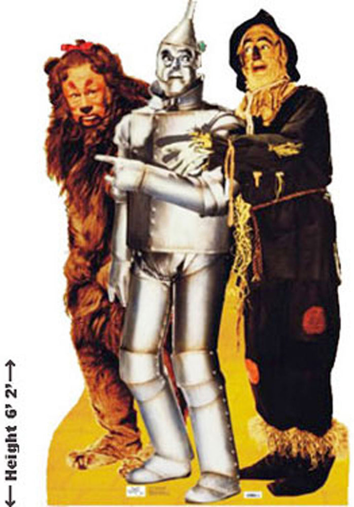 Lion Tinman Scarecrow Stand Up Cardboard Cutout.