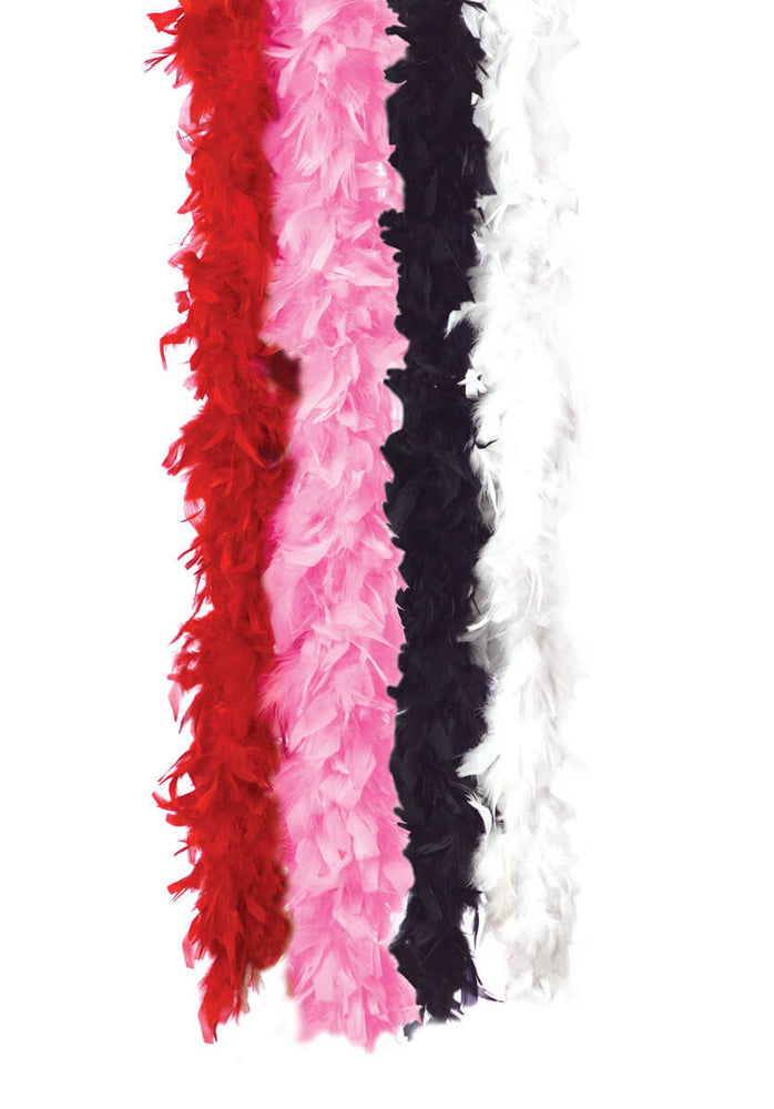 Feather Boa Solid White