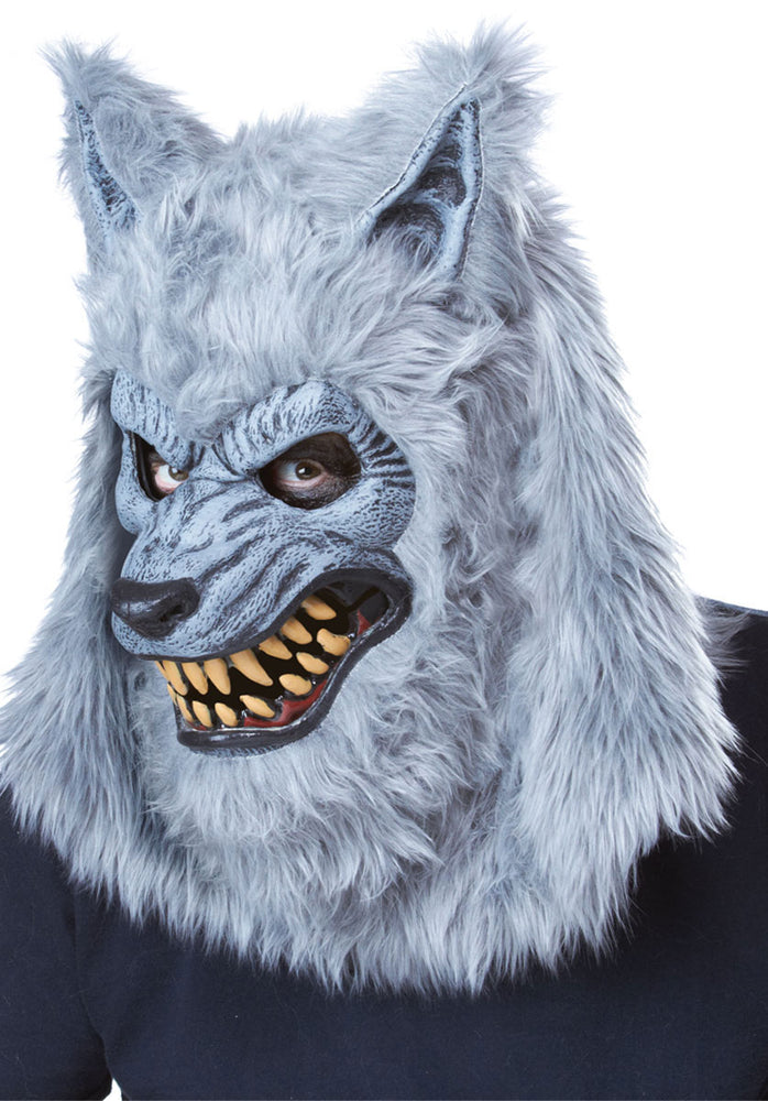 Blood Moon Ani-Motion Mask, Grey Werewolf Mask