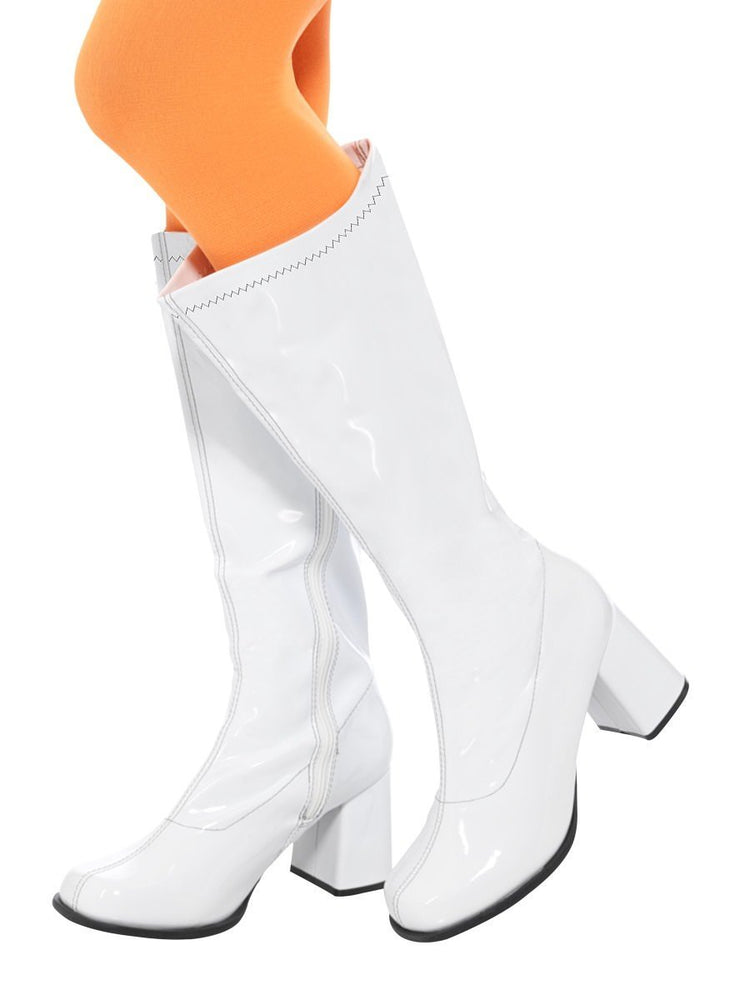Smiffys 60s Ladies White GoGo Boots - 48061