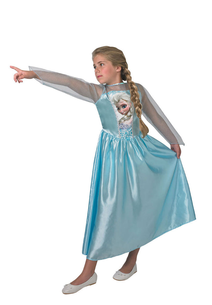 Tween Elsa Classic Costume Disney Frozen Fancy Dress