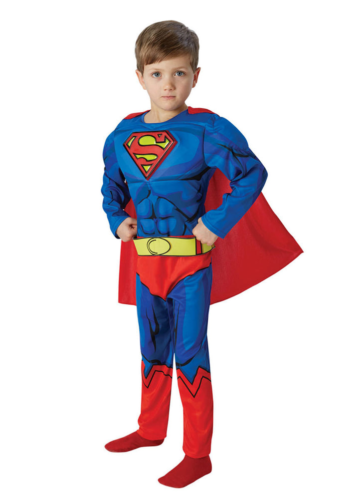 Deluxe Boys Superman Comic Book Style Kids Fancy Dress