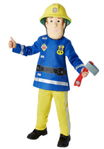 Fireman Sam Kids Costume Mask Axe Set Halloween Fancy Dress