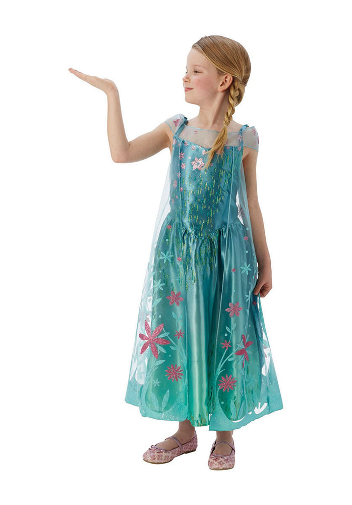 Kids Elsa Costume, Disney Frozen Fever Fancy Dress