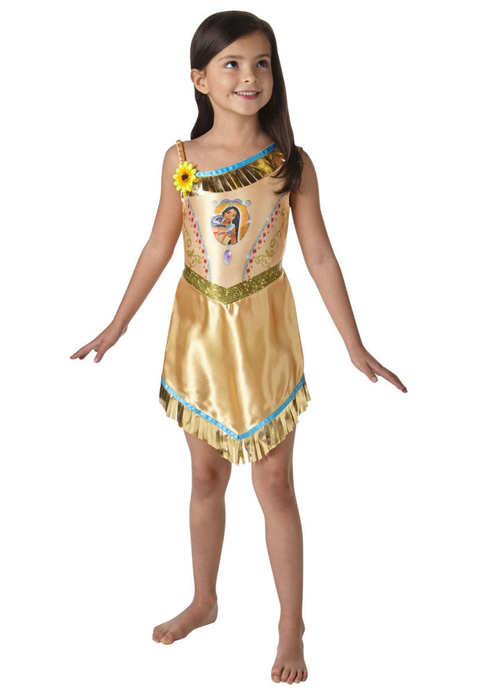 Disney Fairytale Pocahontas Asymmetric Fringed Dress