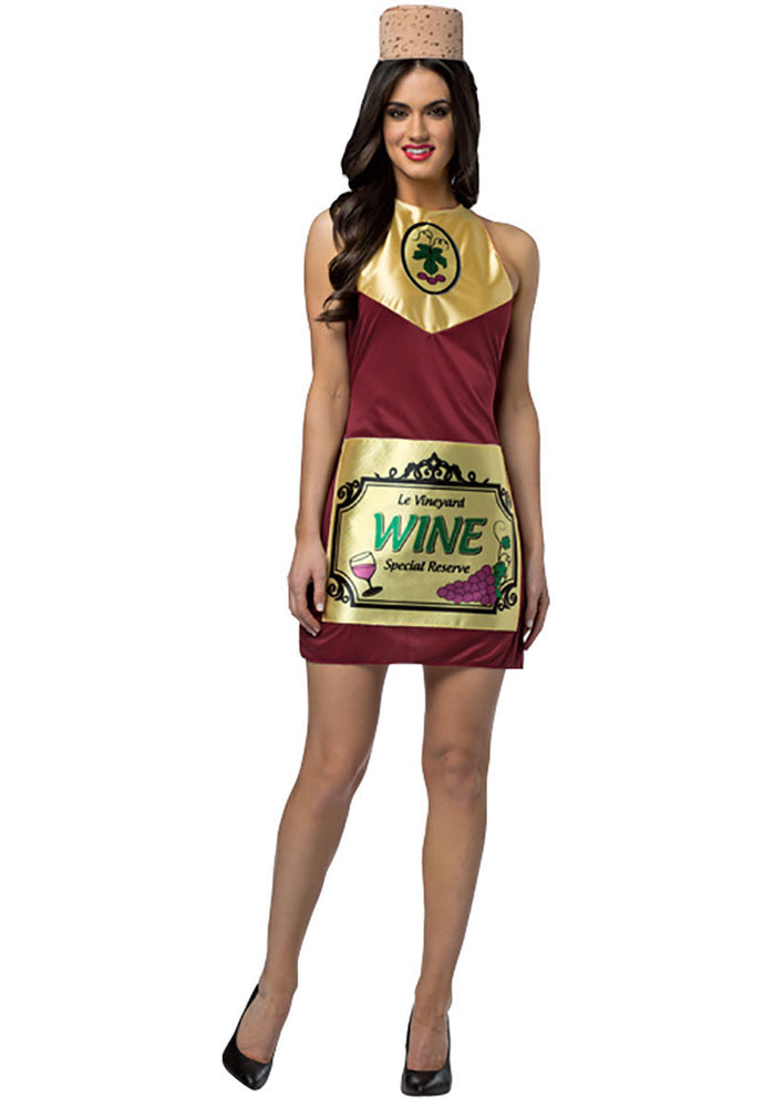 Adult Wine Bottle Special Reserve Ladies Dress Costume
