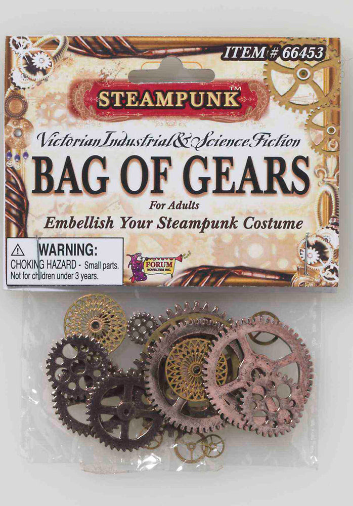 Various Size Bag of Gears Costume Accessory