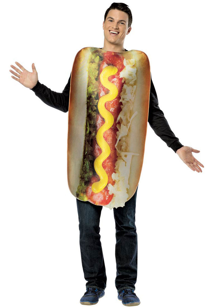 Adult Hot Dog Costume, Get Real Fancy Dress Collection