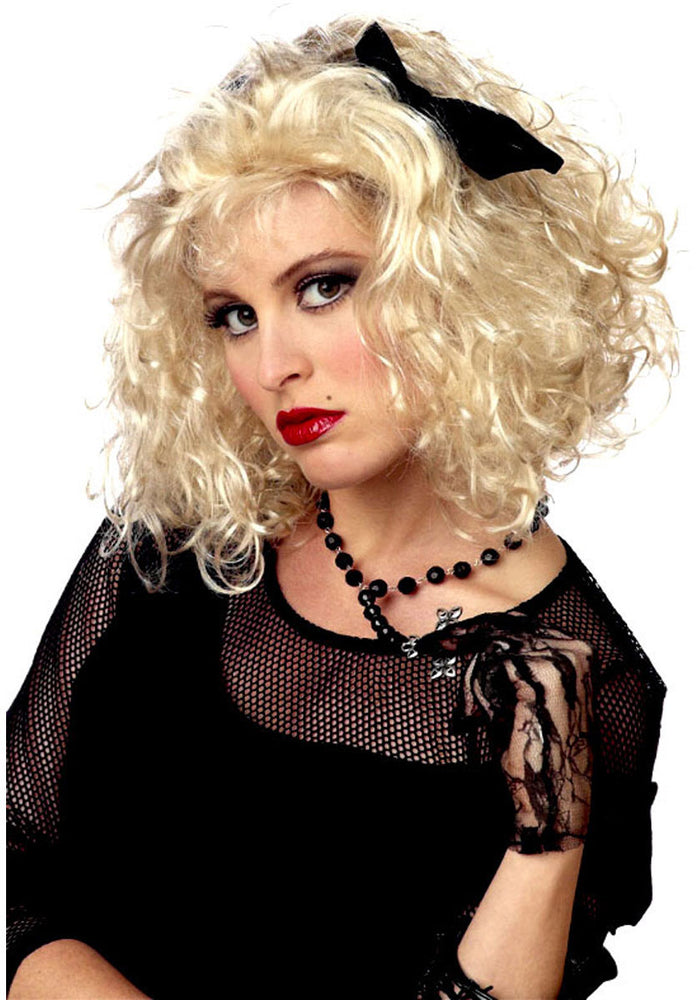 80's Pop Star Wig - Blonde