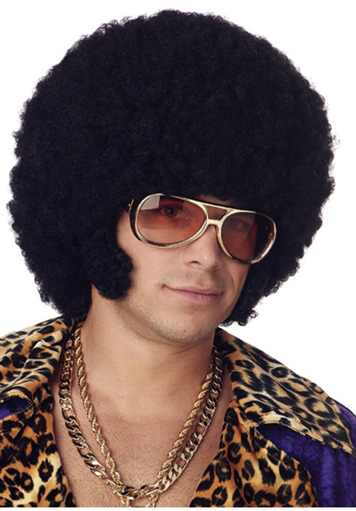 Afro Wig with Chops, Fancy Dress Accessory