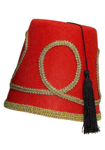 Red, Black and Gold Fez Hat