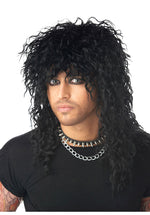 Black Headbanger Wig