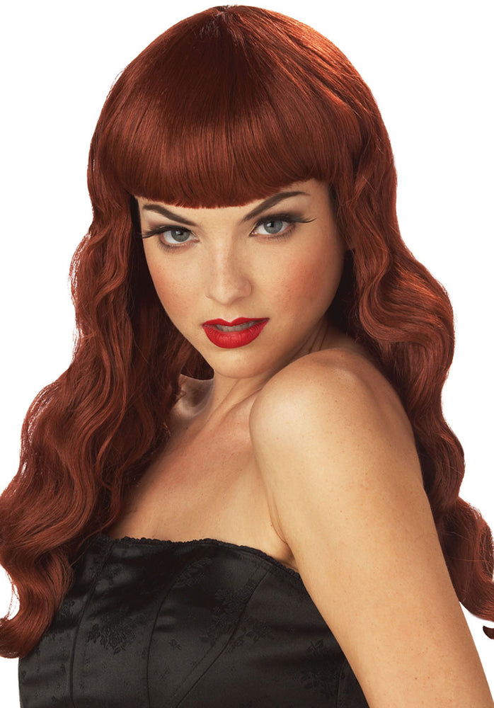 Pin Up Girl Auburn Wig