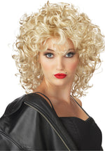 Cropped Blonde 80's Bad Girl Wig