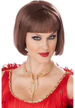 Brown Classic Flapper Costume Wig