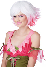 Fantasia Wig, White, Pink and Fuscia Coloured Wig